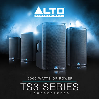 New Alto TS3 Series Active Speakers