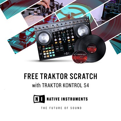Traktor Kontrol S4 Mk2 with FREE Traktor Scratch Upgrade Kit