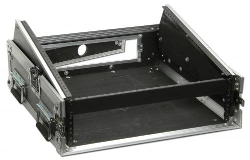 DJKITKASE 2U Slant Top Combi Flight Case