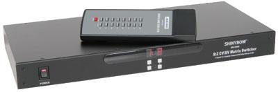 8 x 2 multi A/V matrix switcher with RS232 control