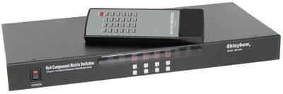 6 : 4 Component Video (RGB) & Audio Matrix Switcher with IR + RS232 control