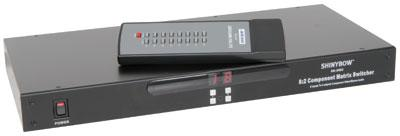 8 : 2 Component Video (RGB) & Audio Matrix Switcher with IR + RS232 Control