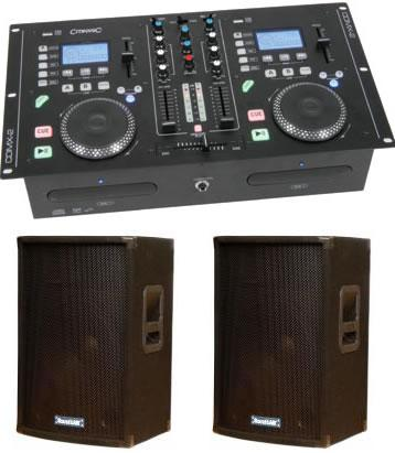 Citronic CDMX 2 Dual CD / MP3 Mixstation with Amplifier & Speakers Package