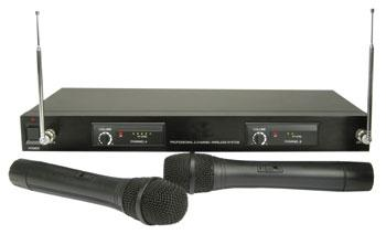 2 CH VHF Handheld Radio Mic System, 175.0MHz+174.0MHz (UK only)