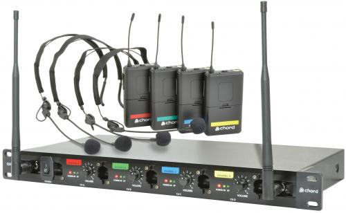 Chord QU4-N Quad UHF Headset Wireless System