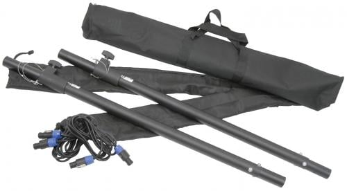 Citronic Adjustable Speaker Poles and Cables (Pair) in Carry Bag
