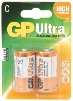 GP Ultra Alkaline Battery C (Pack of 2)