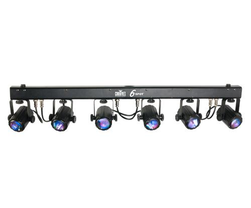 Chauvet 6 Spot LED DMX Colour Changer System