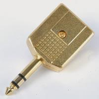 STEREO AUDIO ADAPTOR - 6.3mm PLUG to 2 x 6.3mm SOCKETS