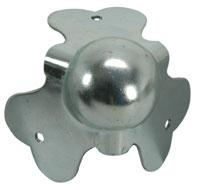 Cabinet accessories - Steel ball corner, 55 x 55mm