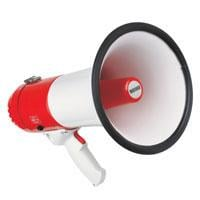 Heavy duty megaphone, with siren, 20W max.