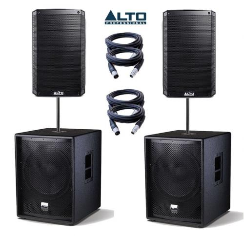 Alto Truesonic TS215A & SUB15A Power Pack 4 - 4600W Active Sound System