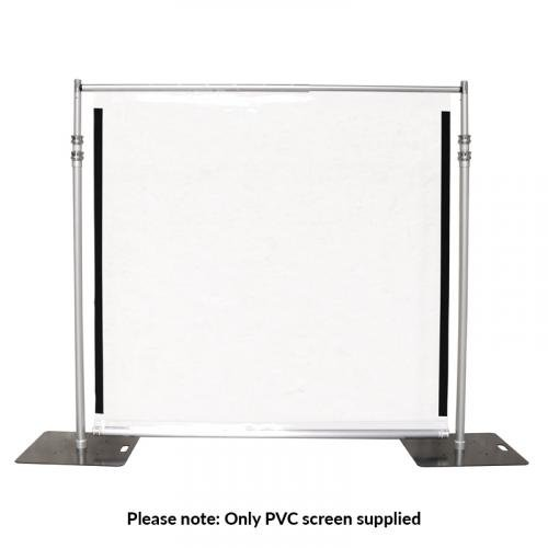Global Truss Clear PVC Shield - 2m x 2m