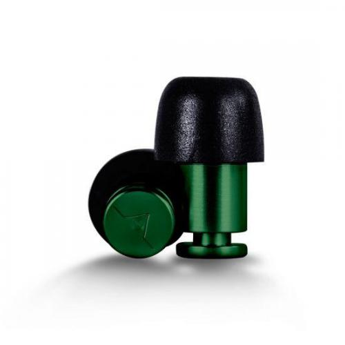 Flare Audio Isolate Aluminium Earplugs Green