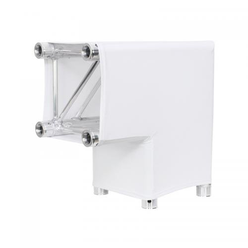 LEDJ White 2 Way 90 Degree Corner Quad Truss Sleeve/Sock