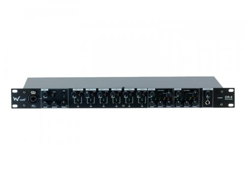 W-Audio CR 6 7-Channel 1u Rack Mount Mixer