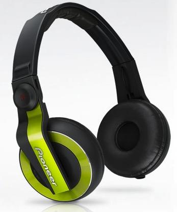 Pioneer HDJ 500 Green Headphone