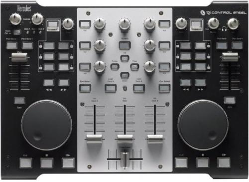 Hercules Steel DJ Console with VirtualDJ DJC 5 Software