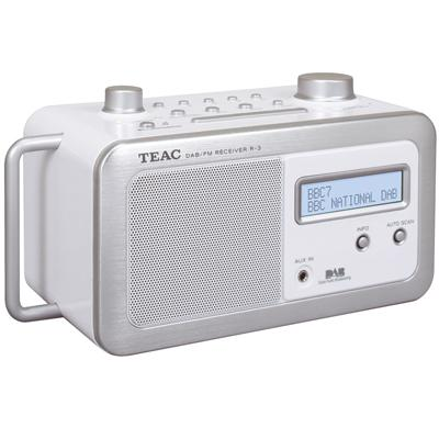 Teac White R3 DAB Radio.  Boxed