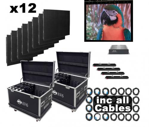 American DJ AV6 12 Panel Video Screen Set