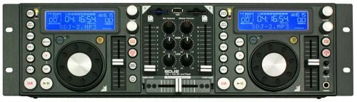 American DJ SDJ2 Twin SD Card USB / MP3 Player / Mixer