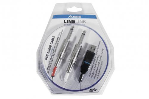 "Alesis lineLink AudiLink Dual 1/4"" to USB Cable"