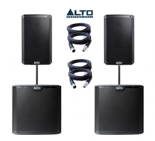 Alto Truesonic TS210A & TS212S Power Pack 3 - 4700W Active Sound System