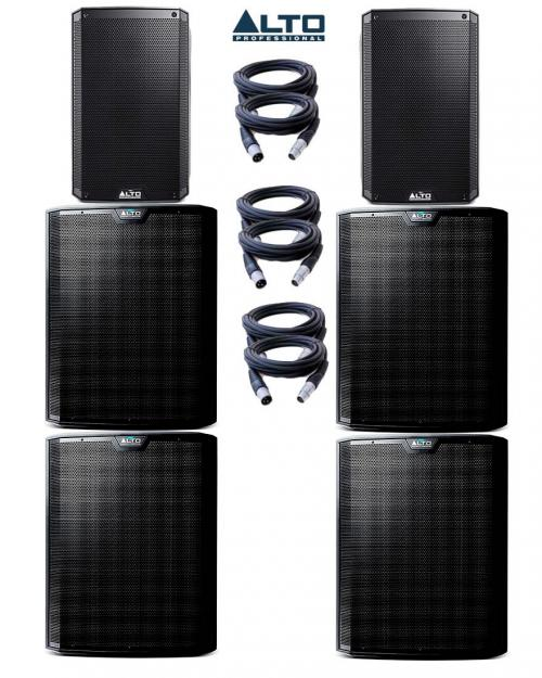 Alto Truesonic TS215A & TS218S Power Pack 5 - 7200W Active Sound System