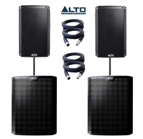 Alto Truesonic TS215A & TS218S Power Pack 2 - 4700W Active Sound System