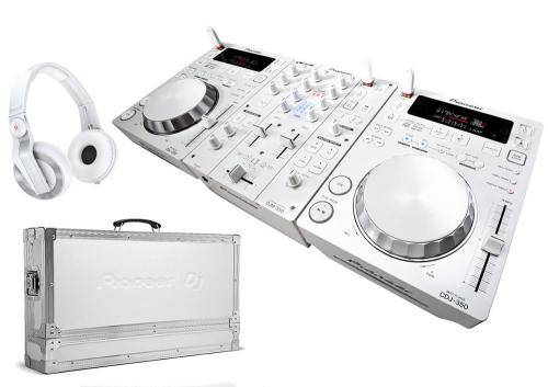 Pioneer CDJ350W & DJM350W White Limited Edition Package with Flight Case