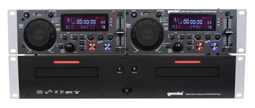 Gemini CDMP2600 Professional 2U Dual CD/MP3/USB Player