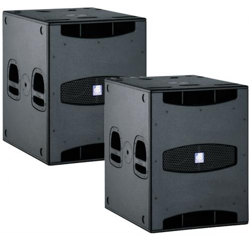 "dB Technologies SUB 18 D 18"" Active Subwoofer 1000W/RMS (PAIR)"