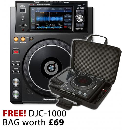 Pioneer XDJ-1000Mk2 with Bag