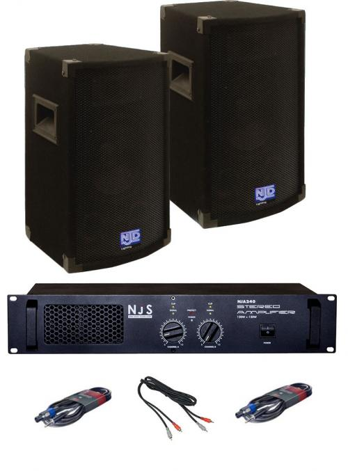 "DJ Equipment 10"" 200 Watt Sound System"