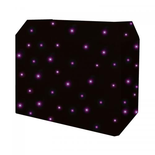 Equinox DJ Booth Quad LED Starcloth System, Black Cloth
