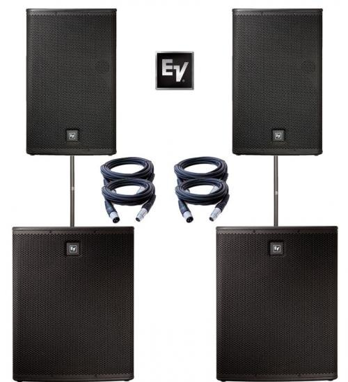 ElectroVoice ELX115P & ELX118P Power Pack - 3400W Active Sound System