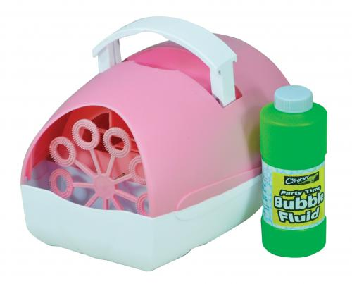 Party Time Battery Operated Bubble Machine (Pink)