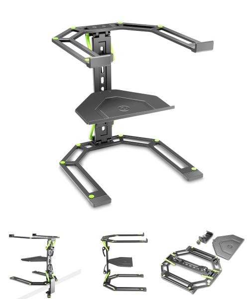 Gravity LTS 01 B Laptop Stand with Table Clamp and Tray