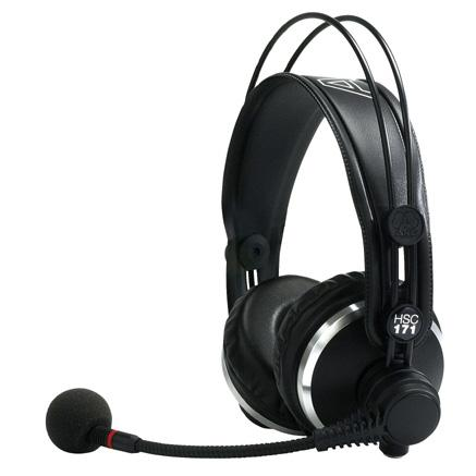 AKG HSC-171 Professional Headset with Microphone for Monitor Talkback