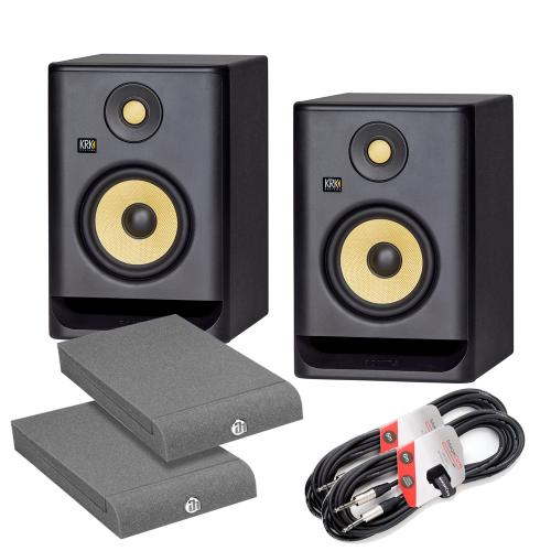 KRK Rokit RP5 G4 Bundle with Isolation Pads & Cables