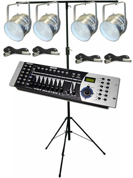 LEDJ Par56 DMX Lighting Kit