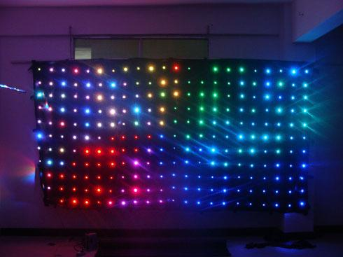 RGB LED Vision Curtain DMX with Animation 3 x 2m