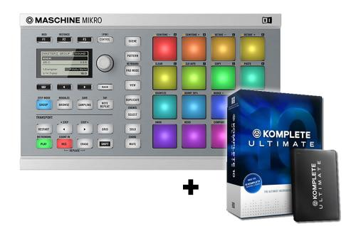 Maschine Mikro MK2 White with Komplete 10 Ultimate