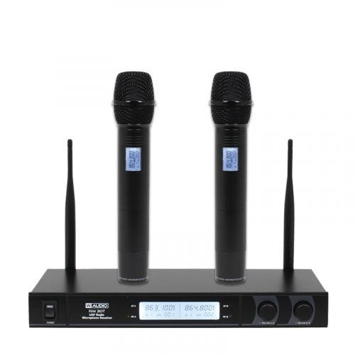 W-Audio RM 30T Twin UHF Handheld Radio Microphone System