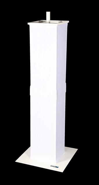 Novopro PS1+ WHITE Podium Stand with speaker adaptor