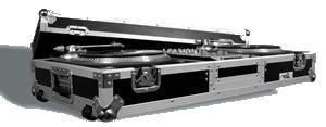 "Road Ready 2 x Turntables & 10"" Mixer Coffin with wheels RRDJ10W"