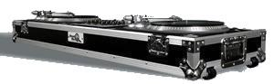 Road Ready 2 x Turntables & 19&quot Mixer Coffin with wheels RRDJ19W