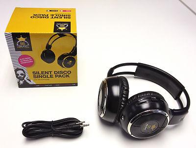 Silent Disco Black Headphones SDK5B
