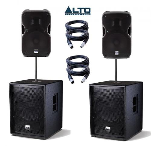 Alto Truesonic TS15A & SUB15A Power Pack 3 - 4000W Active Sound System