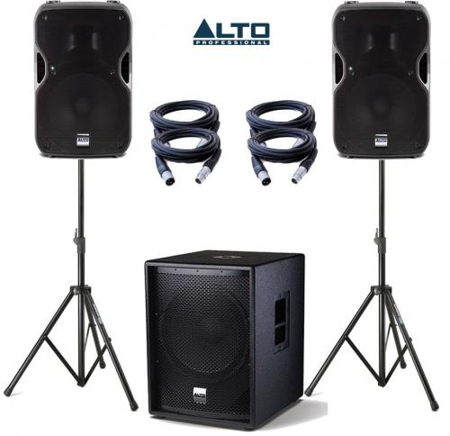Alto Truesonic TS15A & SUB15A Power Pack 2 - 2800W Active Sound System